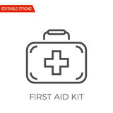 First Aid Kit Vector Icon. First Aid Kit Thin Line Vector Icon. Flat Icon Isolated on the White Background. Editable Stroke EPS file. Vector illustration Royalty Free Stock Image