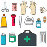 First aid kit. Vector set of first aid kit Royalty Free Stock Image