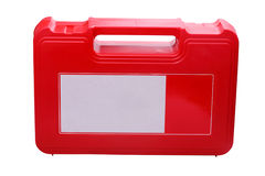 First aid kit on white background Royalty Free Stock Photography