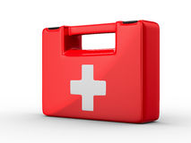 First aid kit on white background. Isolated 3D image Royalty Free Stock Images