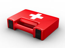 First aid kit on white background. Isolated 3D image Stock Image