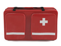 First aid kit. At the white background Royalty Free Stock Image