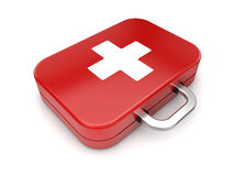 First aid kit. On  white background Stock Images
