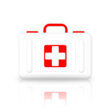 First Aid Kit. On white background Royalty Free Stock Photography