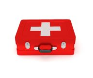 First aid kit on a white background. 3D render Stock Photography