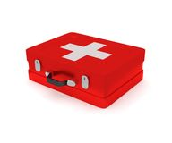 First aid kit on a white background. 3D render Royalty Free Stock Photos