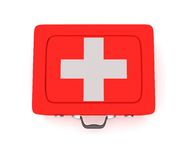 First aid kit on a white background. 3D render Royalty Free Stock Photography