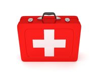 First aid kit on a white background. 3D render Royalty Free Stock Photo