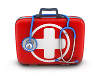 First-aid kit. On white background (done in 3d Stock Images