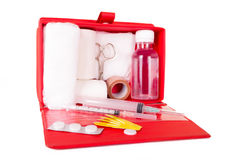 First aid kit on a white background Royalty Free Stock Images