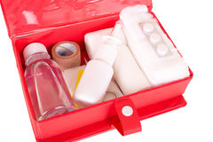 First aid kit on a white background Royalty Free Stock Image