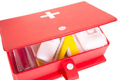 First aid kit on a white background Stock Photos