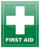 First Aid label Royalty Free Stock Photo
