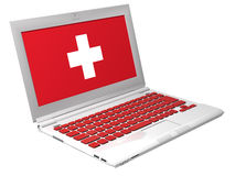 First aid laptop vector illustration