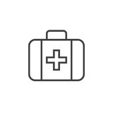 First aid line icon, outline  logo illustration, linear pi. Ctogram isolated on white Stock Images