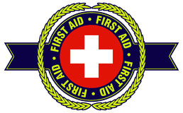 First Aid Logo. With international symbols Royalty Free Stock Images