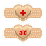 First aid with love. Vector illustration Royalty Free Stock Photography