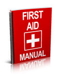 First aid manual. An illustration of  a first aid manual / book. Isolated on white background Stock Photography