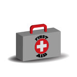First aid medical bag. First aid bag isolated on white background Stock Images