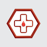 First aid medical button . Royalty Free Stock Photography
