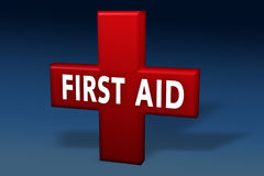 First aid medical cross. Over blue background Royalty Free Stock Photos