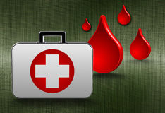 First aid. Medical kit background Royalty Free Stock Photo