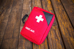 First aid medical kit Stock Photo
