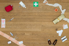 First Aid Medical Tools On Table Royalty Free Stock Photo