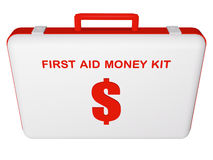 First aid money (dollar) kit. Royalty Free Stock Image