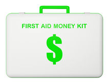 First aid money (dollar) kit. First aid money (dollar) kit illustration on isolated background Stock Image