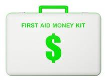 First aid money (dollar) kit. Stock Image
