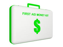 First aid money (dollar) kit. Royalty Free Stock Images
