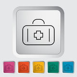 First aid. Outline icon on the button. Vector illustration Royalty Free Stock Photo