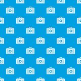 First aid pattern seamless blue. First aid pattern repeat seamless in blue color for any design. Vector geometric illustration Stock Images