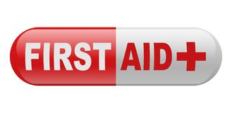 First Aid Pill. Drug over white background Stock Photography