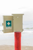 First aid point. At seaside Royalty Free Stock Images
