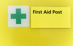First aid post. Royalty Free Stock Photo