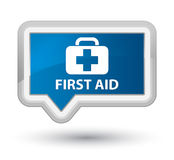 First aid prime blue banner button Royalty Free Stock Photos