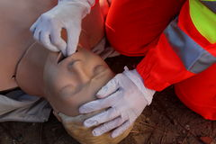 First aid, reanimation royalty free stock image