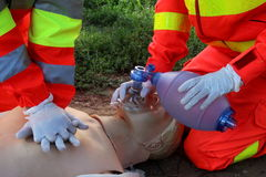 First aid, reanimation Stock Images