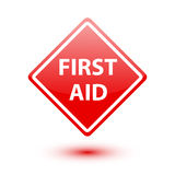 First aid red sign on white. Background Royalty Free Stock Photography