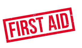 First Aid rubber stamp Stock Photo