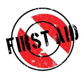 First Aid rubber stamp. Grunge design with dust scratches. Effects can be easily removed for a clean, crisp look. Color is easily changed Stock Image