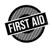 First Aid rubber stamp Royalty Free Stock Images