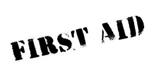 First Aid rubber stamp. Grunge design with dust scratches. Effects can be easily removed for a clean, crisp look. Color is easily changed Stock Photography
