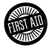 First Aid rubber stamp. Grunge design with dust scratches. Effects can be easily removed for a clean, crisp look. Color is easily changed Stock Images
