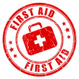 First aid rubber stamp Royalty Free Stock Image
