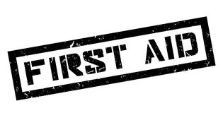 First Aid rubber stamp. On white. Print, impress, overprint Royalty Free Stock Photos