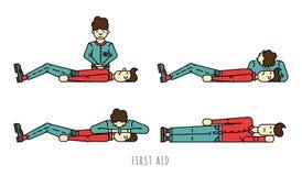 First aid scheme Stock Photo