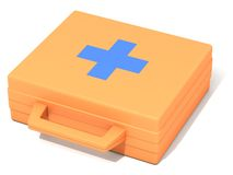 The first-aid set. The three-dimensional image of the first-aid set on a white background Stock Illustration